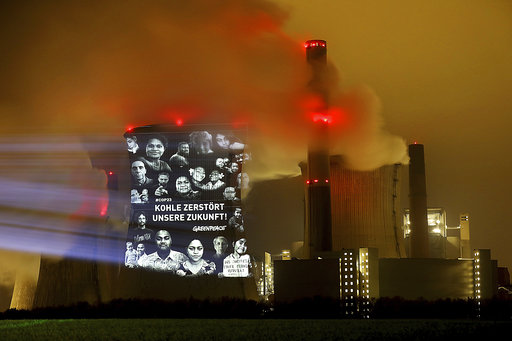 Climate activists stage protest at German coal-fired plant