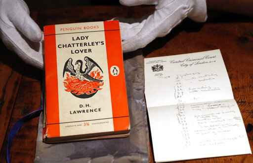UK halts export of 'Lady Chatterley' copy from famous trial
