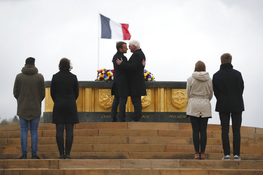 French, German leaders seek more unity 100 years after WWI