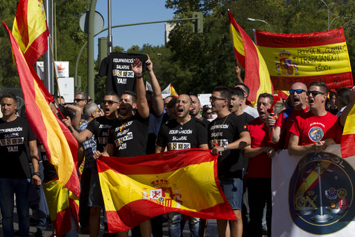 The Latest: Spain blames Catalonia for breakdown of dialogue