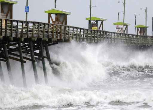 WHAT'S HAPPENING: Florence begins to batter Carolina coast