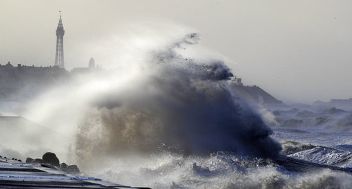 Severe storm batters western Europe, British Isles