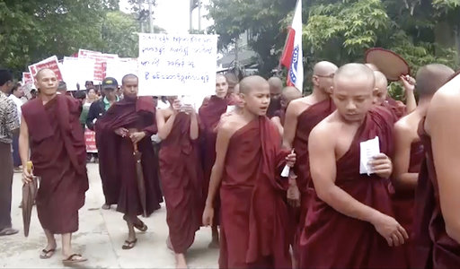 Buddhists protest to urge Myanmar not to repatriate Rohingya