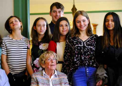 On Anne Frank's 90th birthday, her friends meet students