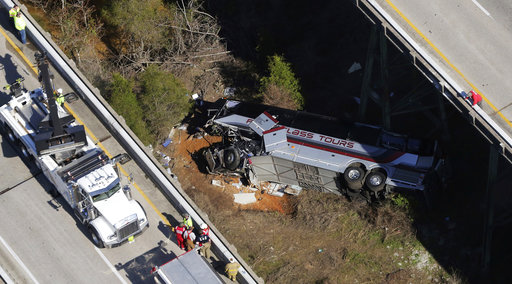 The Latest: Governors from Alabama, Texas speak after crash
