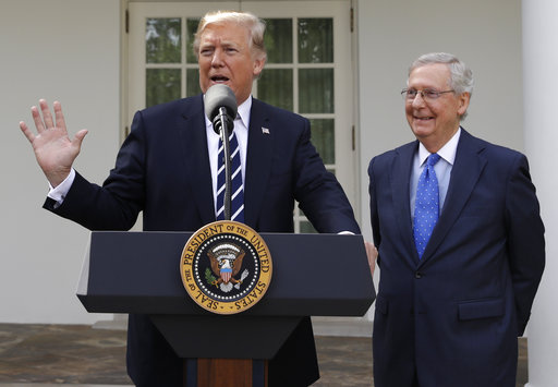 Trump, McConnell make a show of unity, despite tensions
