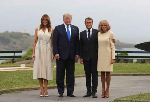 The Latest: Trump dining with G-7 leaders in France