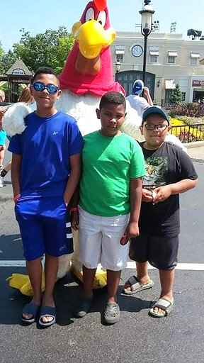 Brothers David, from left, Gus and Michael Jaramillo of Marion, Iowa are shown in this undated family photo released by the family's attorney Ryan Best. An accident on a popular boat ride at Adventureland Park in Altoona, Iowa on Saturday, July 3, 2021 killed 11-year-old Michael, left his brother David in critical condition, while Gus suffered minor injuries. (Family photo/attorney Ryan Best via AP)