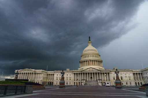 The U.S. Capitol in Washington, on Friday, Aug. 28, 2020. The tensions coursing through the United States over racism and policing are a likely target for adversaries seeking to influence the November election, lawmakers and experts warn - and there are signs that Russia is again seeking to exploit the divide.  (AP Photo/J. Scott Applewhite)