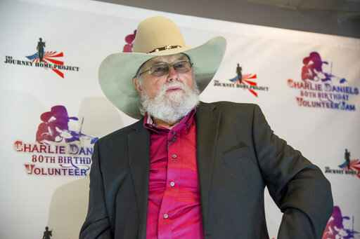 FILE - In this Nov. 30, 2016 file photo, Charlie Daniels appears at the Charlie Daniels 80th Birthday Volunteer Jam in Nashville, Tenn. Daniels who had a hit with