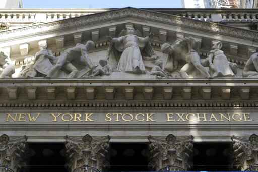 FILE - In this June 16, 2021 file photo, the facade of the New York Stock Exchange.  Stocks are opening higher on Wall Street, Wednesday July 21,  as the market continues to recover from a sharp drop at the beginning of the week.   (AP Photo/Richard Drew, File)