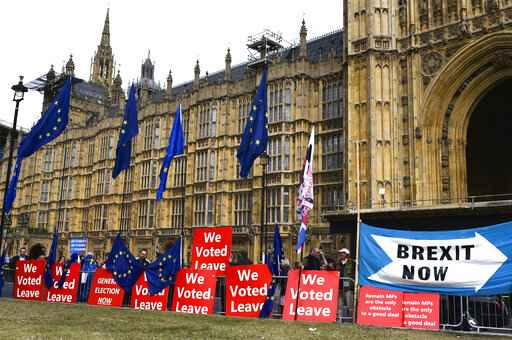 The Latest: UK Lords pass law to block no-deal Oct 31 Brexit