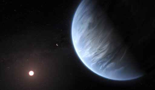 Water, temperature right for life at another star's planet