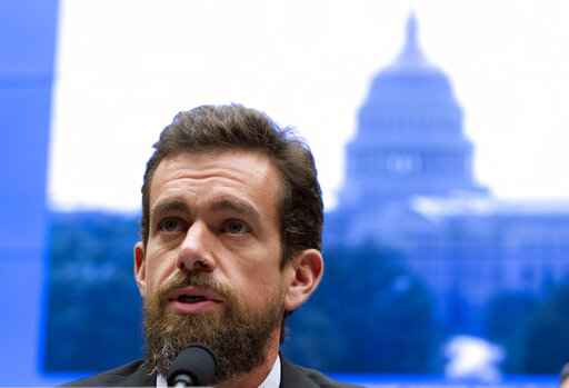 FILE - In this Sept. 5, 2018, file photo Twitter CEO Jack Dorsey testifies before the House Energy and Commerce Committee in Washington.