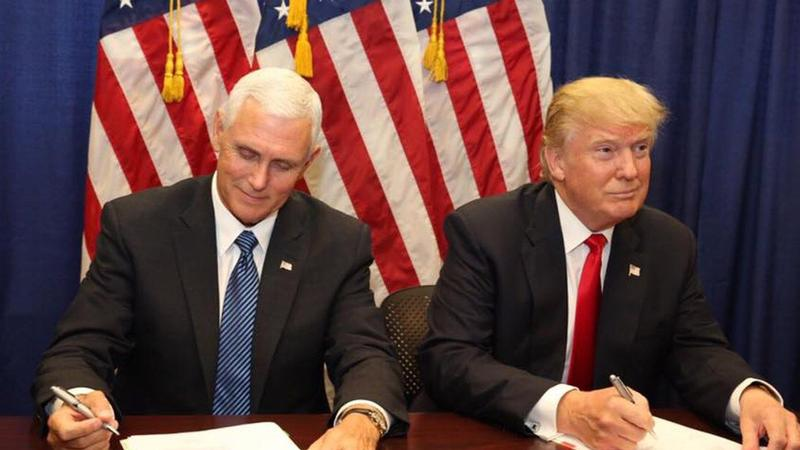 Mike Pence and President-elect Donald Trump