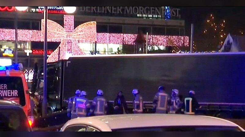 Truck runs into crowded Christmas market in Berlin, Photo Date: 12/19/2016