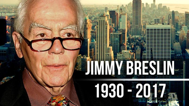 Jimmy Breslin, Chronicler of Wise Guys and Underdogs, Dies