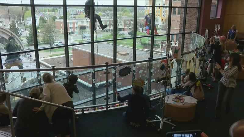Superheroes Surprise Young Patients at Mayo Clinic Saint Marys