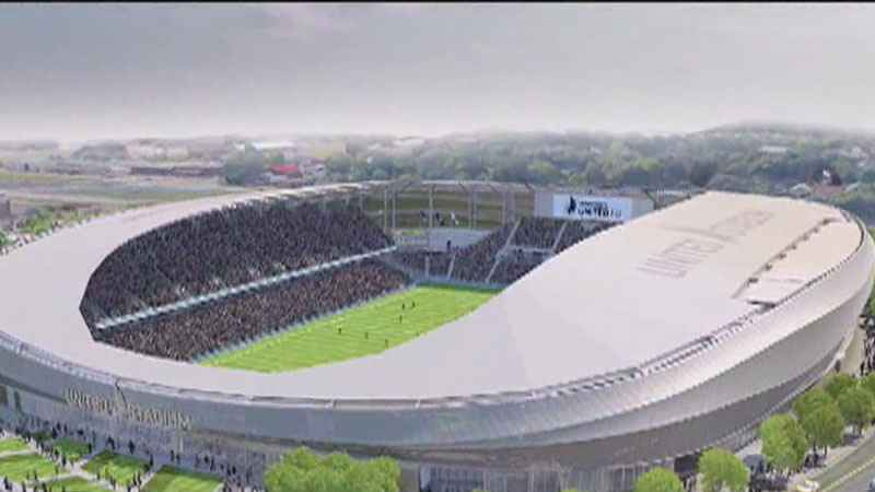 A rendering of the new home of the Minnesota United in St. Paul
