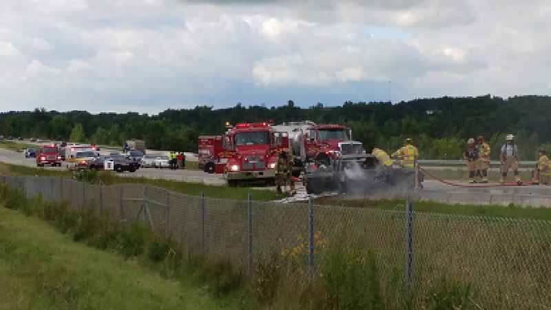 Vehicle Fire in Oronoco Backs Up Traffic