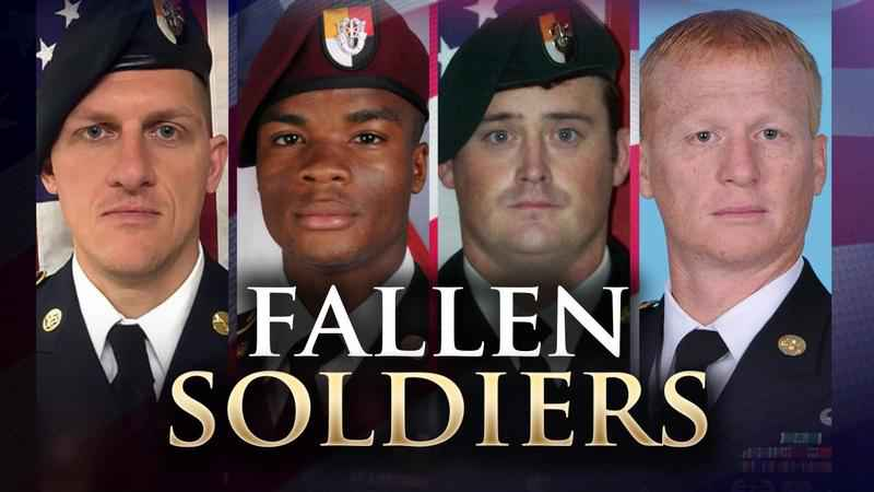 A funeral service was held for the fallen soldiers who died in the October 4th Niger attack