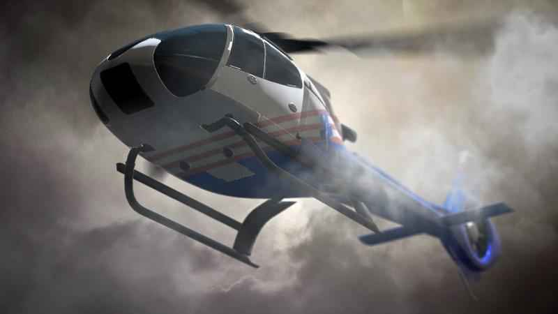Helicopter crash injures two
