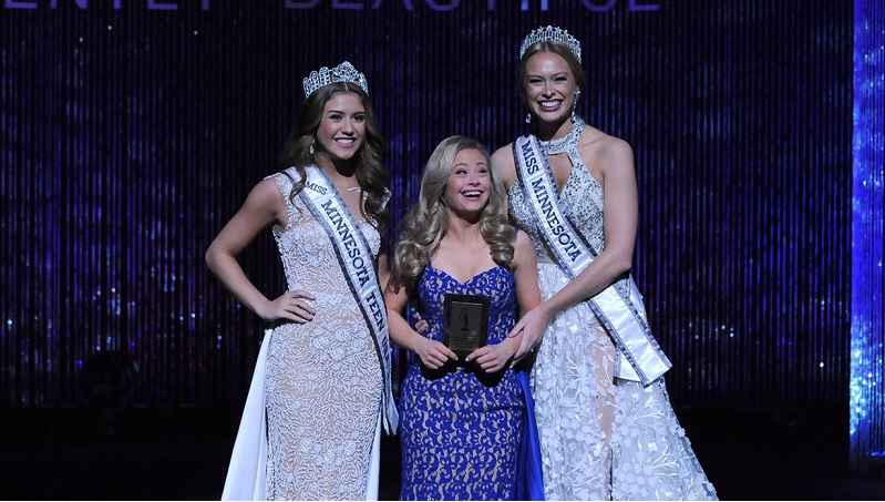 22-year-old Mikayla Holmgren received the spirit award and the director's award during Sunday's Miss Minnesota USA pageant