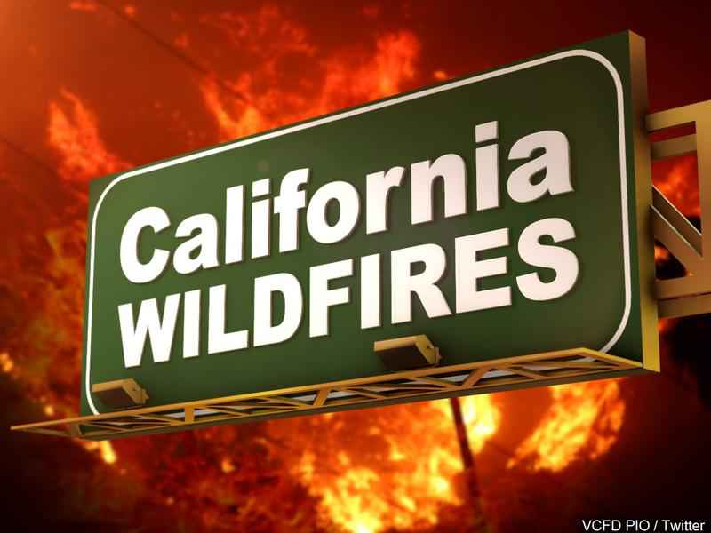 Major Freeway Closed as California Wildfires Continue