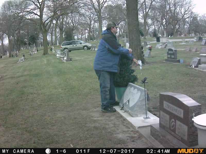 Charles City Cemetery Suspect IDed through Facebook