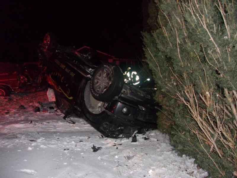Vehicle Launches Into Tree in Mower County
