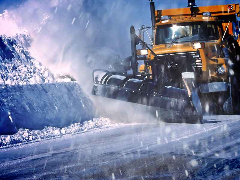 Plow Driver Recovering After Truck Rolled
