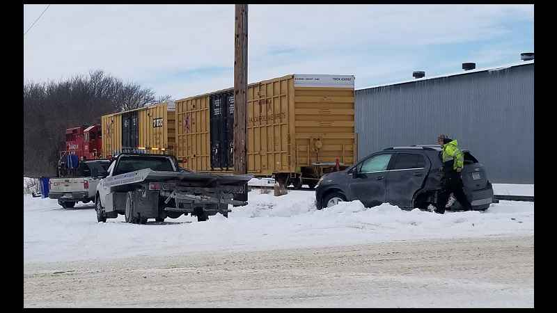 "Driver ""Lucky to be Alive"" After Train vs. Car Accident in Kasson"