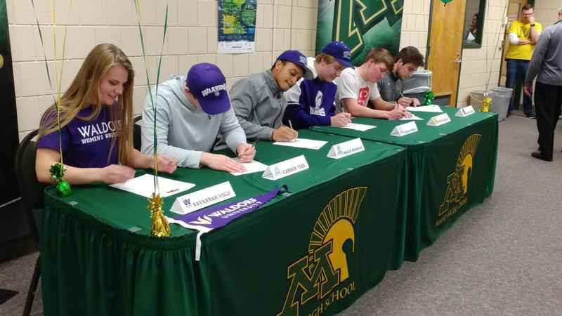 Six Rochester Mayo seniors sign their NLOI's on Wednesday