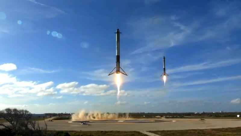 SpaceX Launches New Rocket; Lands 2 Boosters