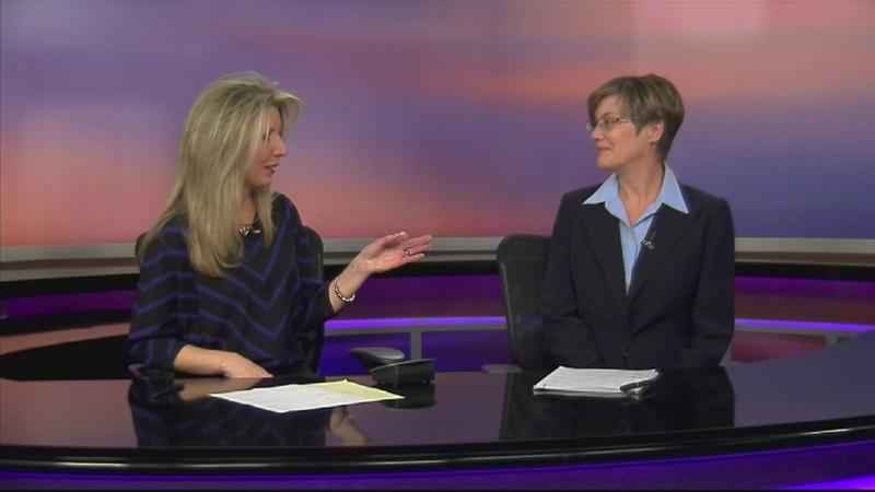 Kim Norton speaking with ABC 6 News Anchor Betsy Singer on Jan. 31, 2018 about pre-caucus training.