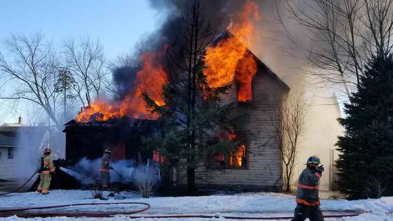 Spring Valley Home Destroyed by Fire