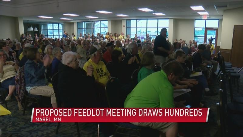 Hundreds Gather for Proposed Hog Farm Meeting in Fillmore County