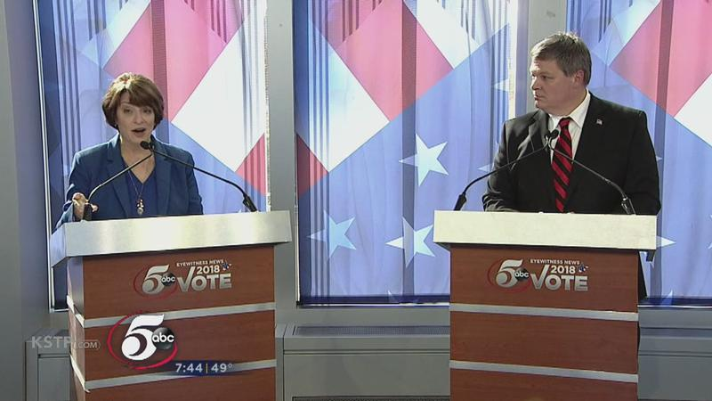 U.S. Senate Candidates Klobuchar & Newberger Face Off in Primetime Debate