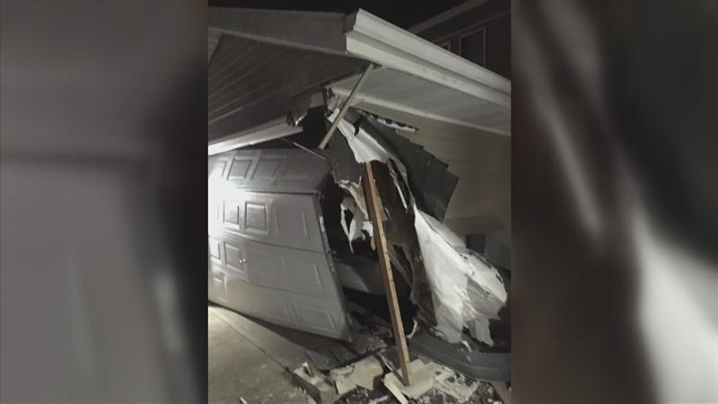 Two Houses in Southeast Rochester Damaged After Car Crash