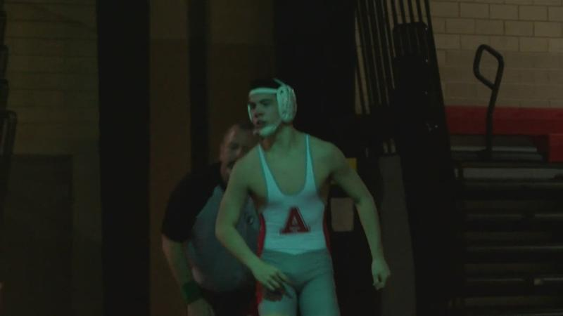 Austin Dominates John Marshall on the Wrestling Mats