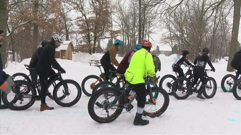 Dozens Compete in Fat Tire Bike Race All for a Good Cause
