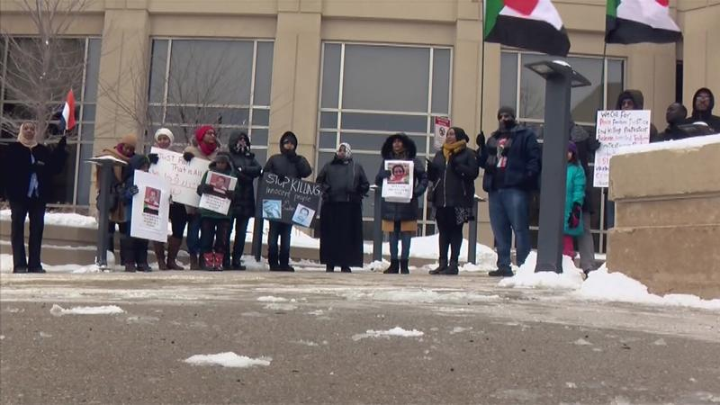 Local Immigrants Protesting Political Events in Sudan