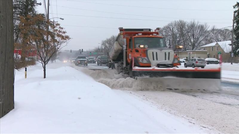 Motorists Deal with Slick and Dicey Roads after Snow Storm