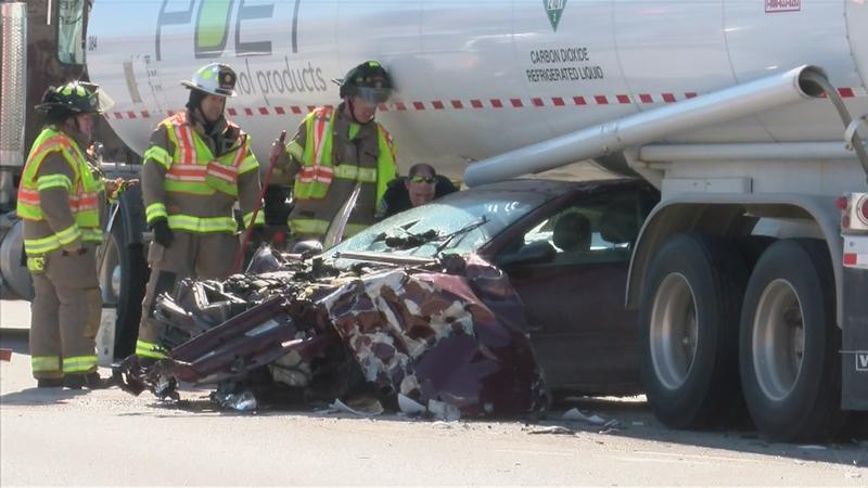 Driver Walks Away with Minor Injuries After Crash with Semi