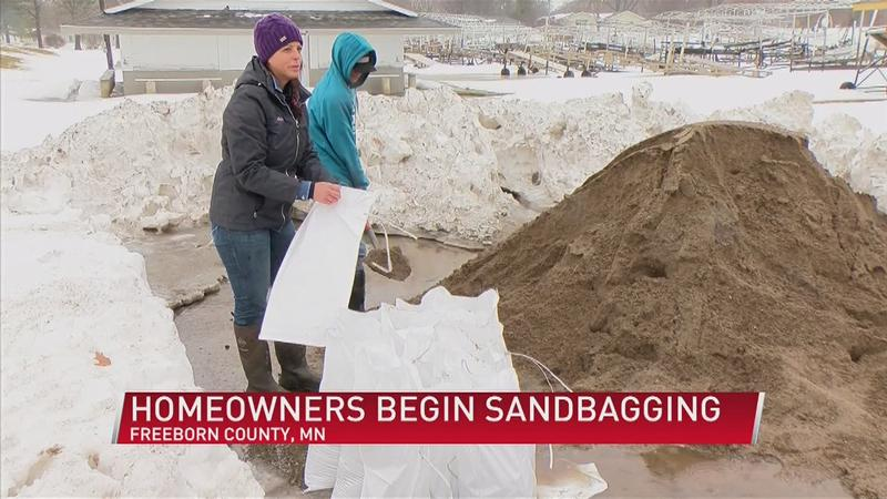Freeborn County Residents Fill Sandbags To Keep Homes Dry