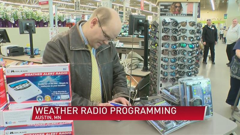ABC 6 Weather Team Programming Weather Radios for Severe Storms