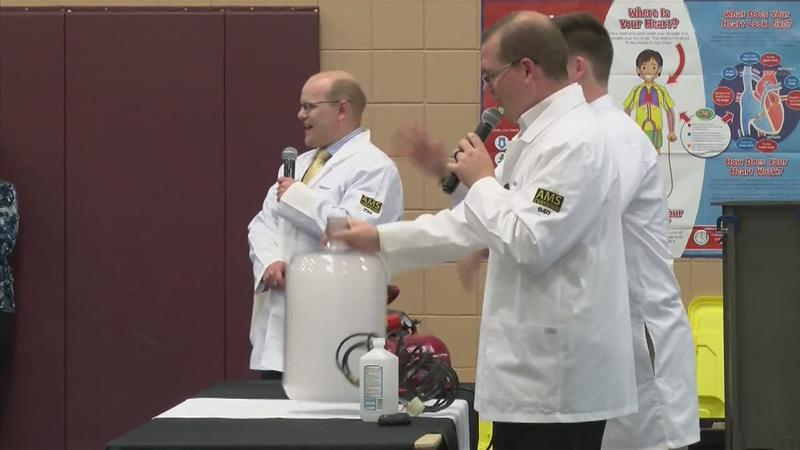 Weather Lab Visits Dover-Eyota Elementary