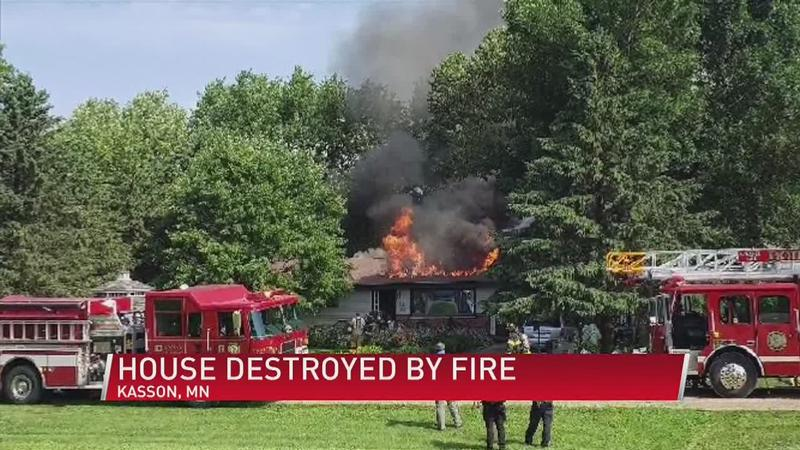 Kasson Home Destroyed by Fire