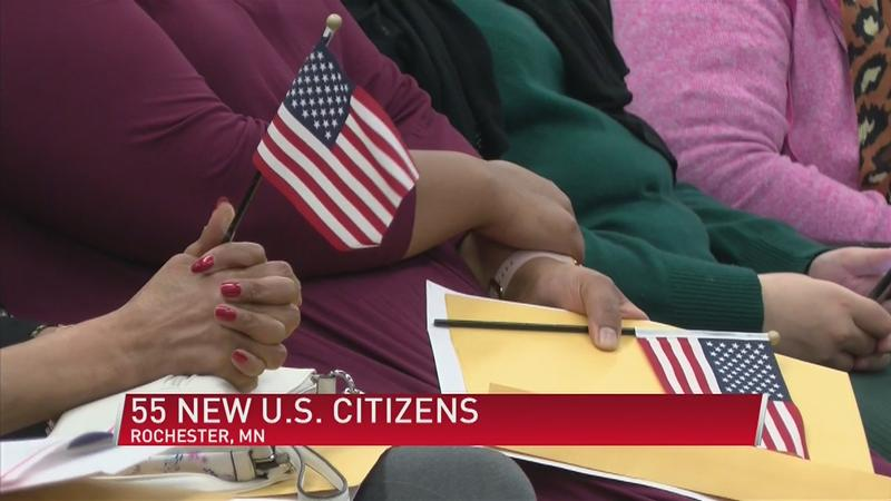 55 immigrants become U.S. citizens at Civic Center