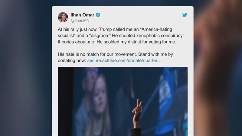 Omar tweets in response to Trump's remarks